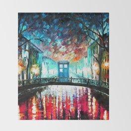 Tardis With Beautiful Starry Night Throw Blanket