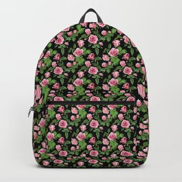 Roses -Black Backpack