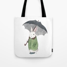 Mr. Tibbles Loves the Rain Tote Bag