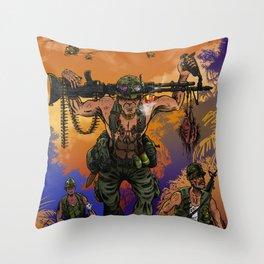 War Machine - The Nam Dude Throw Pillow