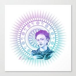 Frida Kahlo Feminist Bravery Canvas Print