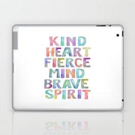 Kind Heart Fierce Mind Brave Spirit Printable Tribal Nursery Quote Girl Tribal Decor Tribal Wreath Laptop & iPad Skin