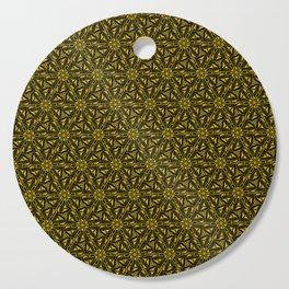 Gold & Copper Triangular Art Deco Black Diamond Design Pattern Cutting Board