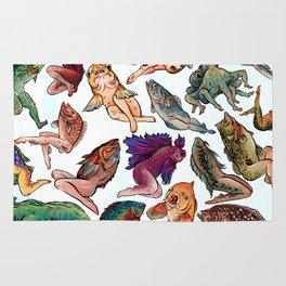 Reverse Mermaids Rug