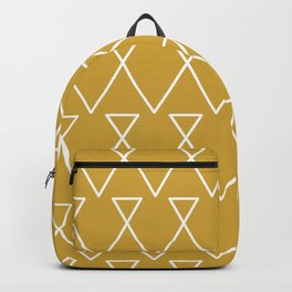 Gold Triangle Based Pattern Backpack