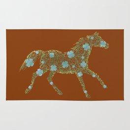 Ornament horse watercolor Rug