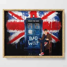 British Bad Wolf Serving Tray