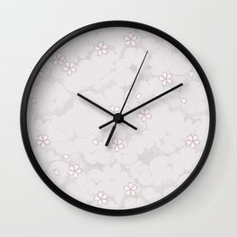 Kumori Nochi Sakura: Pink Wall Clock