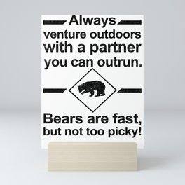 Bears Are Fast Mini Art Print