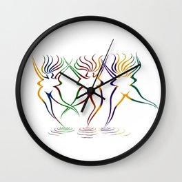 GODDESS BEACH Wall Clock
