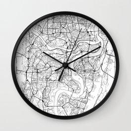 Chongqing Map White Wall Clock