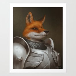 The Knight Fox Art Print
