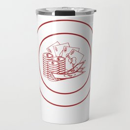 Bought This Shirt With Your Money Poker Travel Mug