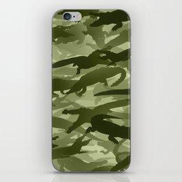 Crocodile camouflage iPhone Skin