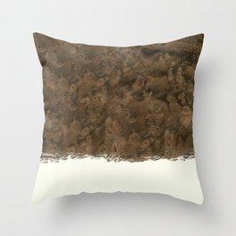 Dipped Wood - Walnut Burl Throw Pillow