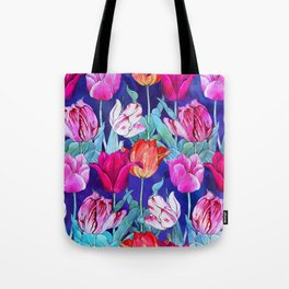 Tulips field Tote Bag