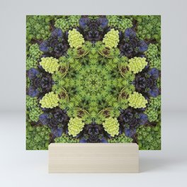 Filigree Foliage Kaleidoscope Mini Art Print