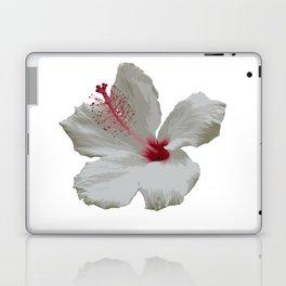Pure White Hibiscus Tropical Flower Laptop & iPad Skin