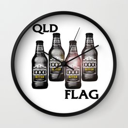 Queensland Flag xxxx Wall Clock