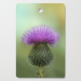 Bright Purple and Green Thistle Cutting Board