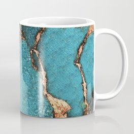GEMSTONE  & GOLD AQUA Coffee Mug