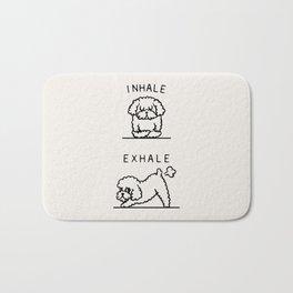 Inhale Exhale Toy Poodle Bath Mat