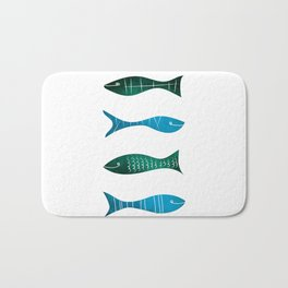 Fishes and Sea Bath Mat