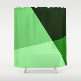 Four Shades Of Green Shower Curtain