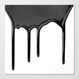 Black paint drip Canvas Print