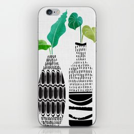 Black and White Tribal Vases iPhone Skin