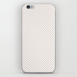 Bridal Blush and White Polka Dots iPhone Skin