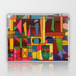 Colors In Collision 1 - Geometric Abstract of Colors that Clash Laptop & iPad Skin