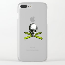skull asparagus Clear iPhone Case