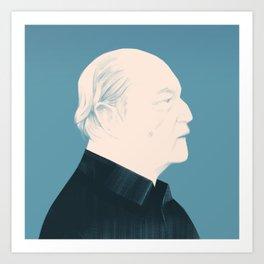 Architect Portraits: Oscar Niemeyer Art Print