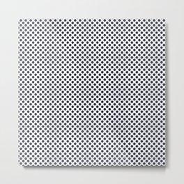 Peacoat Polka Dots Metal Print