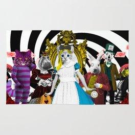 Cat-lice in Wonderland Rug
