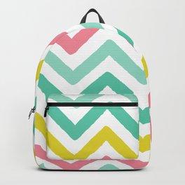 colorful zig zag chevron stripes pattern Backpack