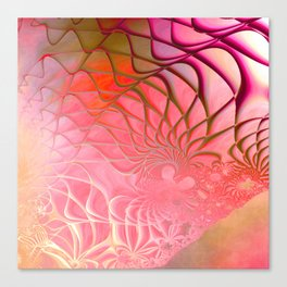 Web of the Universe (coral and magenta) Canvas Print