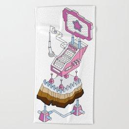 ornament_factory_2 Beach Towel