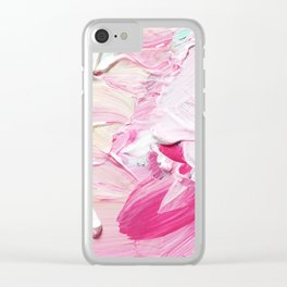 Minty Rose (Abstract Painting) Clear iPhone Case