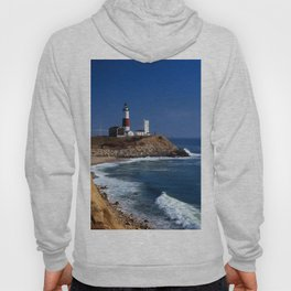 Crispy Morning at Montauk Point Lighthouse Long Island New York Hoody
