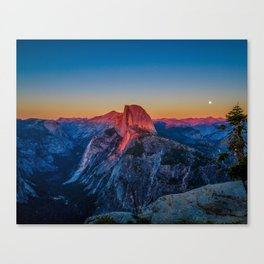 Sunset at Glacier Point Canvas Print
