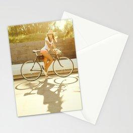 Velo girl Stationery Cards