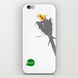 HAPPY COCKATIEL BIRD NORMAL  iPhone Skin