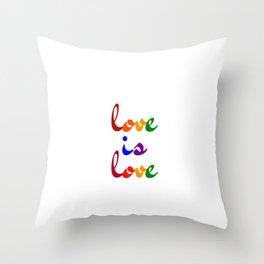 love is love rainbow Throw Pillow