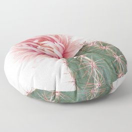 Pink Cactus Flower Floor Pillow