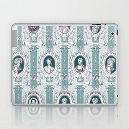 Science Women Toile de Jouy - Teal Laptop & iPad Skin