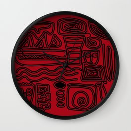Africa Red Wall Clock
