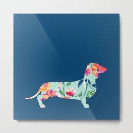 Colorful Teckel dog Metal Print