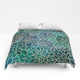 Floral Abstract 4 Comforters